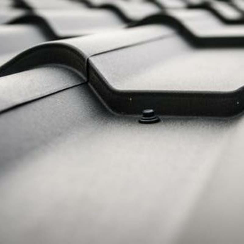 Grey iron sheet roofing