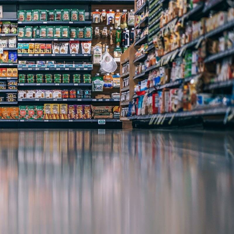 A store aisle